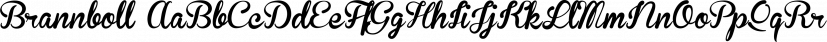 Brannboll font family by Måns Grebäck