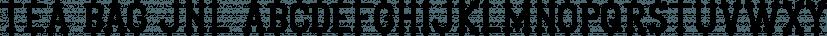 Tea Bag JNL font family by Jeff Levine Fonts