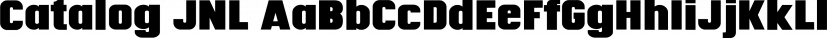 Catalog JNL font family by Jeff Levine Fonts