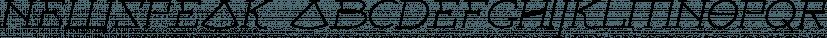 Newspeak font family by Barnbrook Fonts