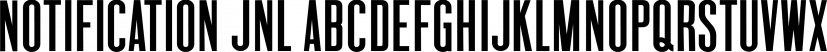 Notification JNL font family by Jeff Levine Fonts