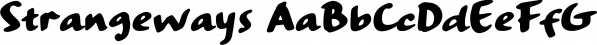 Strangeways font family by Ana's Fonts