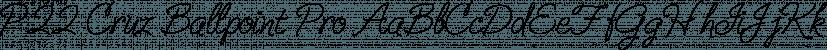 P22 Cruz Ballpoint Pro font family by P22 Type Foundry