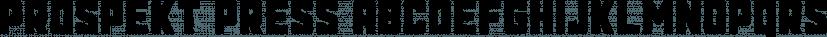 Prospekt Press font family by Tugcu Design Co
