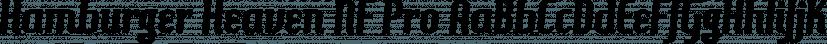 Hamburger Heaven NF Pro font family by CheapProFonts
