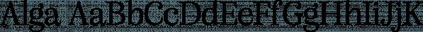 Alga font family by Nova Type Foundry