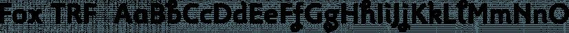 Fox TRF  font family by TipografiaRamis