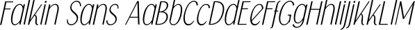 Falkin Sans font family by Måns Grebäck