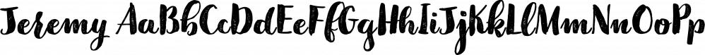 Jeremy font family by GRIN3 (Nowak)