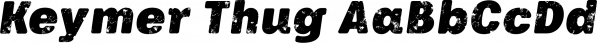 Keymer Thug font family by Talbot Type