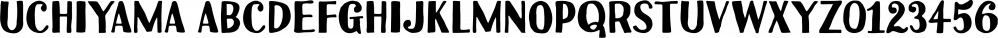 Uchiyama font family by Typodermic Fonts Inc.