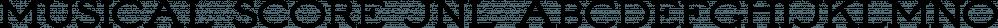 Musical Score JNL font family by Jeff Levine Fonts