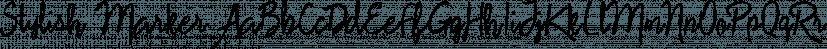 Stylish Marker font family by Pedro Teixeira