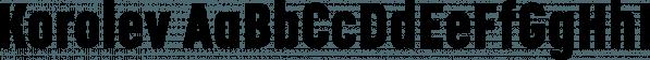 Korolev font family by Device