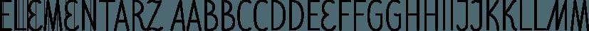 Elementarz font family by GRIN3 (Nowak)