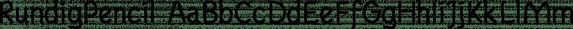 RundigPencil font family by Ingrimayne Type