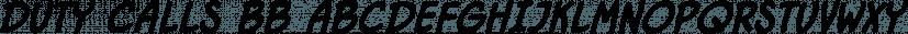 Duty Calls BB font family by Blambot