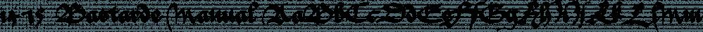 1475 Bastarde Manual font family by GLC Foundry