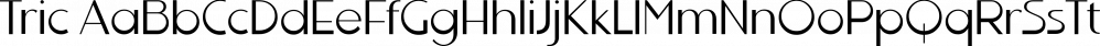Tric font family by Wiescher-Design