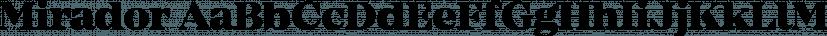 Mirador font family by René Bieder