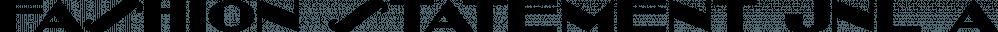Fashion Statement JNL font family by Jeff Levine Fonts