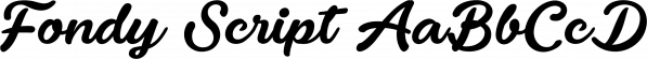 Fondy Script font family by Måns Grebäck