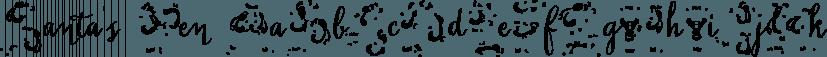 Santa's Pen font family by Fontforecast