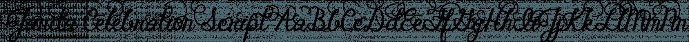 Janda Celebration Script font family by Kimberly Geswein Fonts