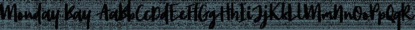 Monday Bay font family by Letterhend Studio