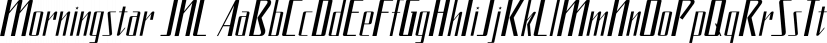 Morningstar JNL font family by Jeff Levine Fonts