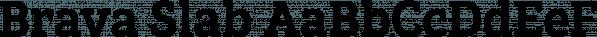 Brava Slab font family by Rafael Jordan
