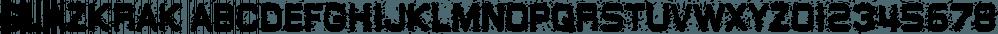 GlazKrak font family by Typodermic Fonts Inc.