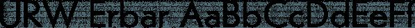 URW Erbar font family by URW Type Foundry
