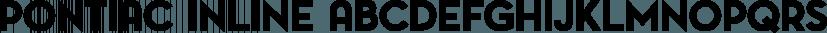 Pontiac Inline font family by S&C Type