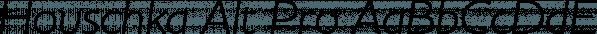 Houschka Alt Pro font family by G-Type