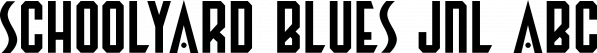 Schoolyard Blues JNL font family by Jeff Levine Fonts