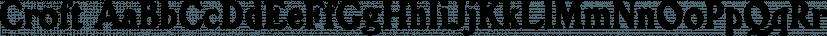 Croft font family by Stiggy & Sands