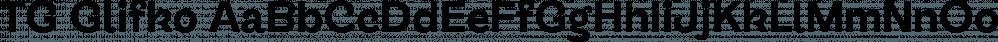 TG Glifko font family by Tegami Type