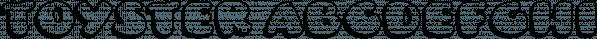 Toyster font family by Sharkshock