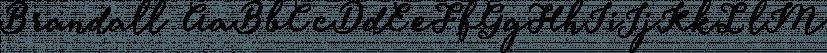 Brandall font family by Artimasa