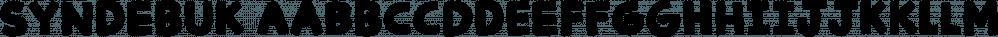 Syndebuk font family by Bogstav