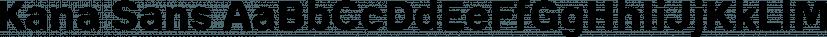 Kana Sans font family by GT&CANARY