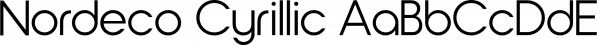 Nordeco Cyrillic font family by Leksen Design
