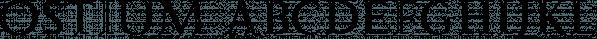 Ostium font family by Rafael Jordan