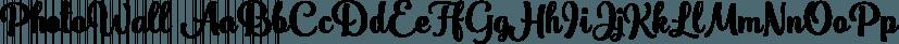 PhotoWall font family by DearType