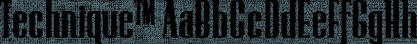 Technique™ font family by MINDCANDY