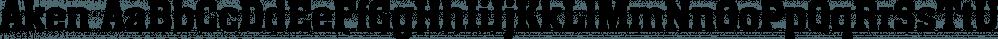 Aken font family by FontSite Inc.