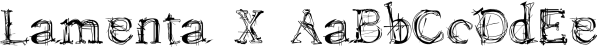 Lamenta X font family by Dawnland