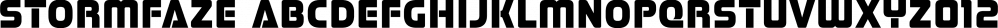 Stormfaze font family by Typodermic Fonts Inc.