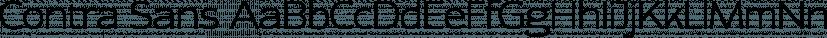 Contra Sans font family by Wiescher-Design